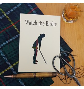Golf Card Watch the Birdie