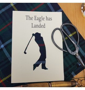 Tartan Golf Card The Eagle...