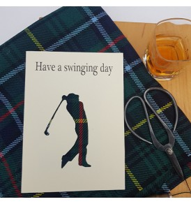 Golf Card Have a Swinging Day