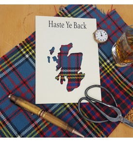 Scottish Tartan Card Haste...