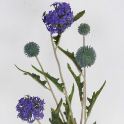 Blue Globe Thistle Faux Flower