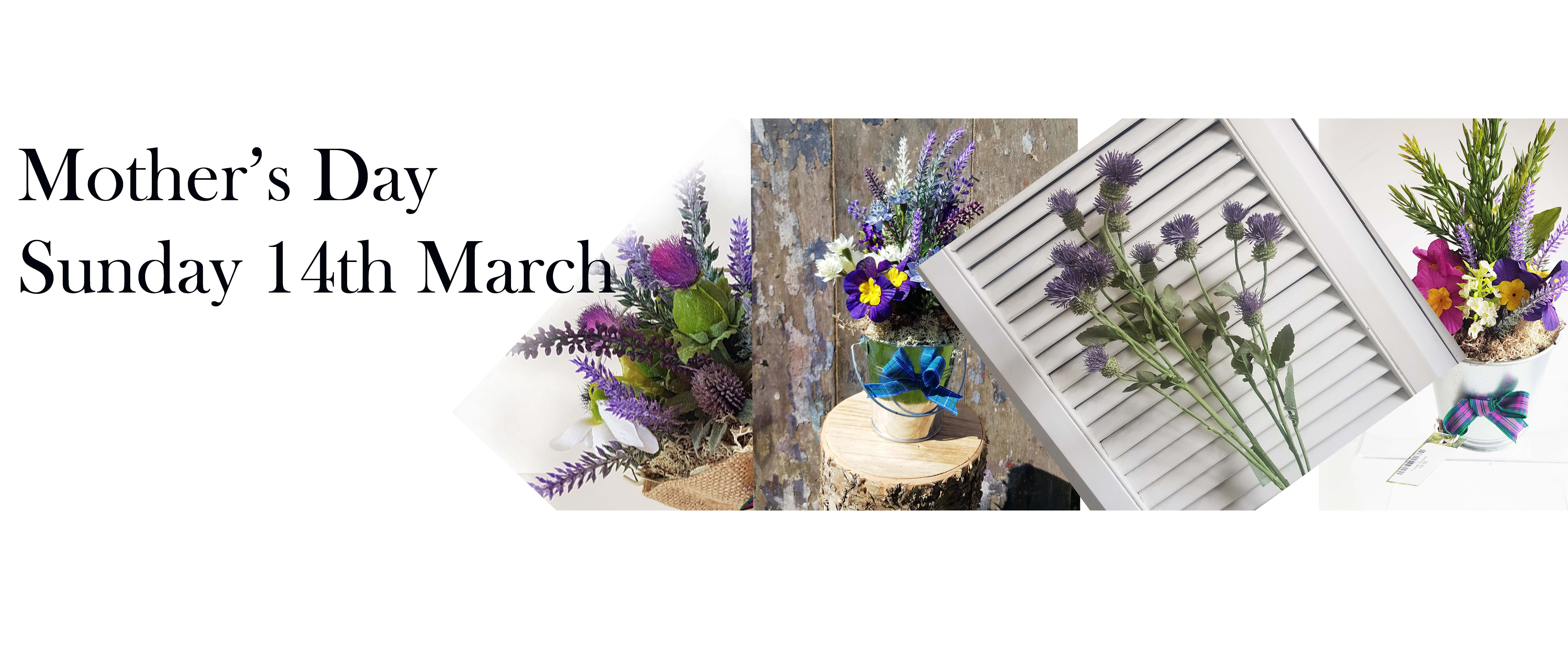 Choose from our range of artificial realistic flowers and Scottish gifts for any occasion